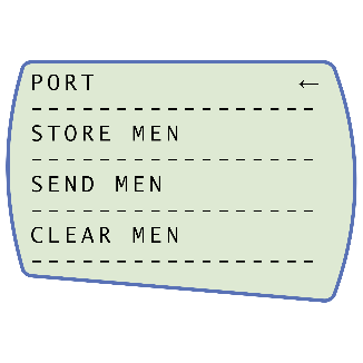 AFG Port Menu