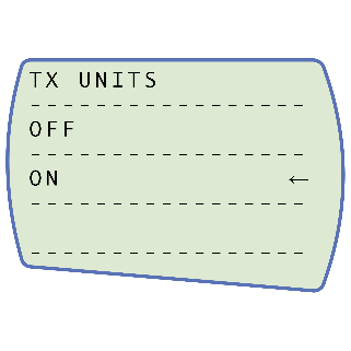 TX Units On