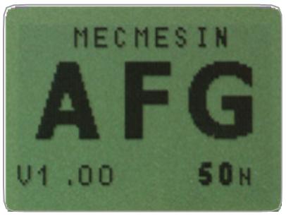AFG self test display
