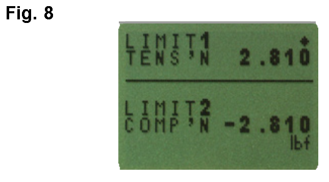AFG alarm tensile and compression limits
