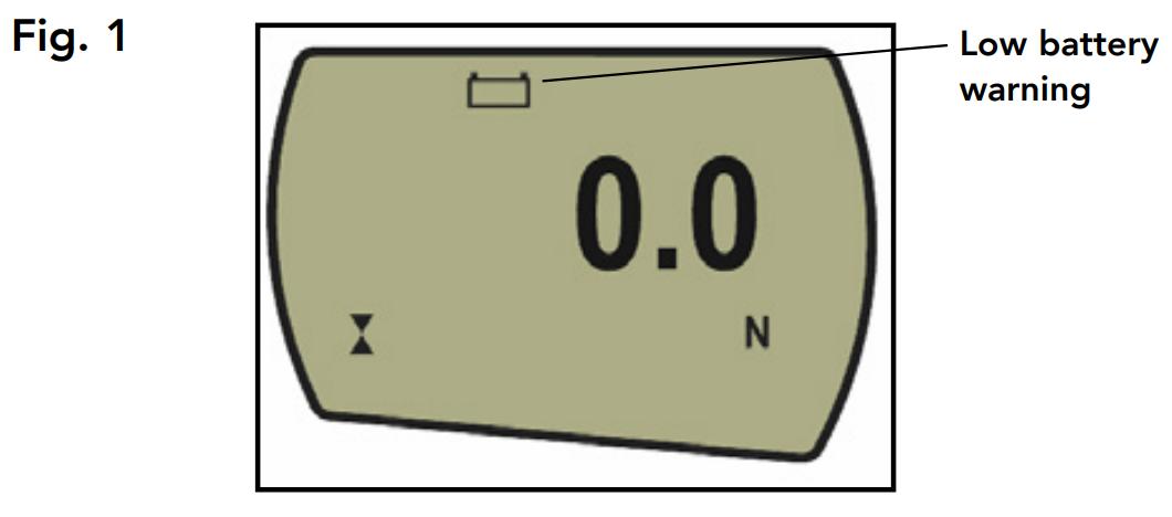 AFG low battery warning symbol
