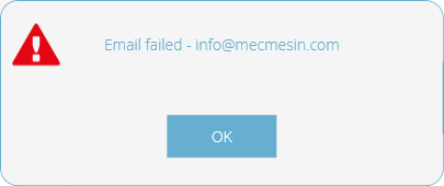 Email Failed