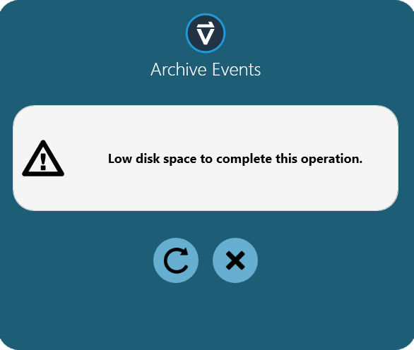 Event Log Low Disk Space Error