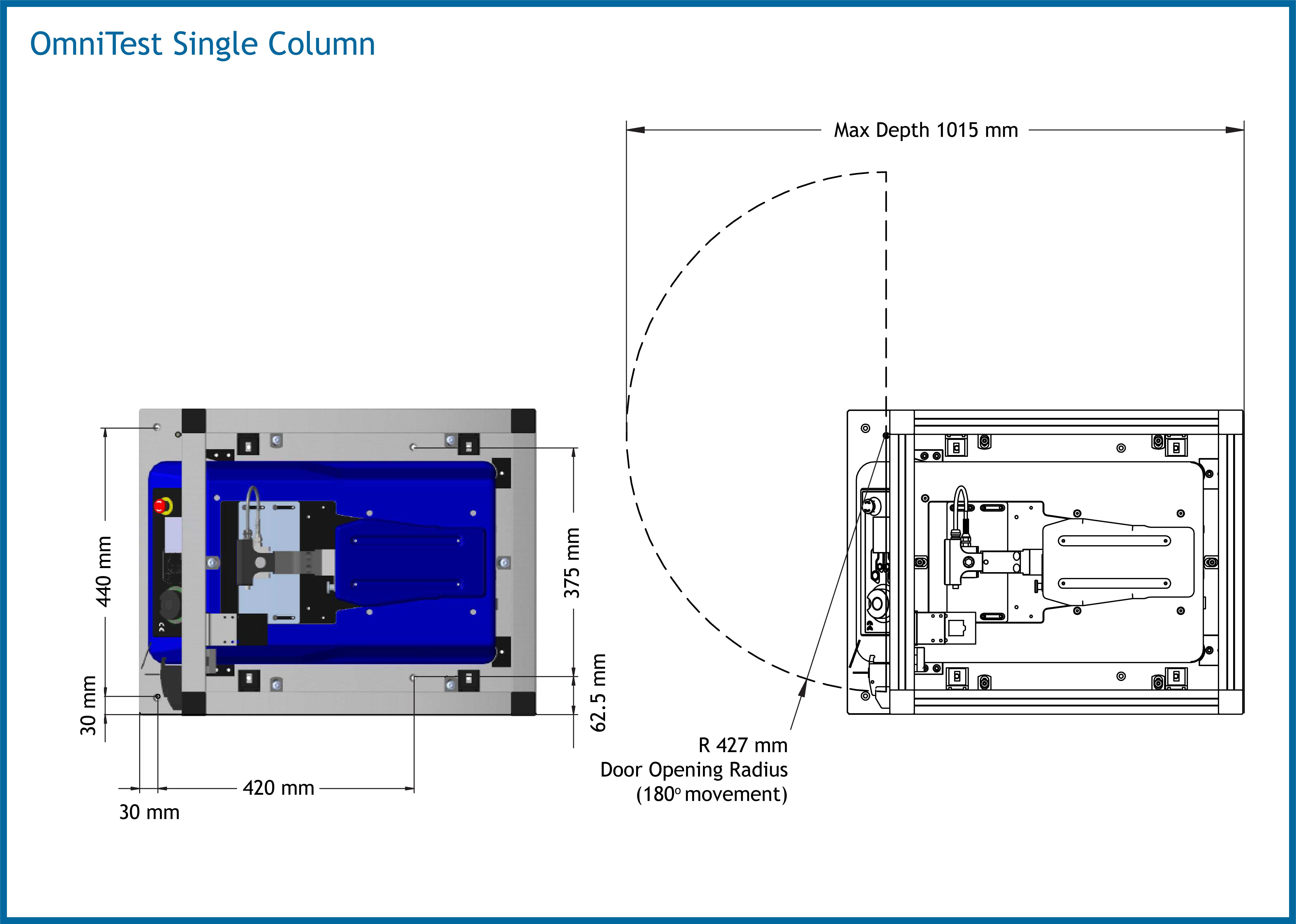 OmniTest Single Column Dimensions
