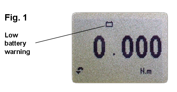 Orbis low battery warning symbol