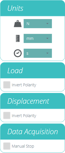 Units and Polarity Settings