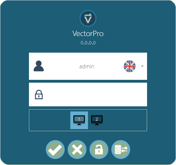VectorPro Login Screen