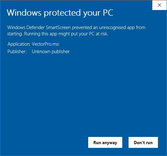 Windows Defender Message