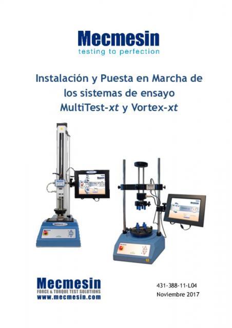 Instalación y Puesta en Marcha de los sistemas de ensayo MultiTest-xt y Vortex-xt
