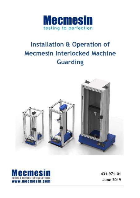 Installation and Operation of Mecmesin Interlocked Machine Guarding