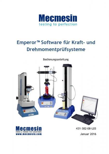 Emperor™Software für Kraft-und Drehmomentprüfsysteme Bedienungsanleitung