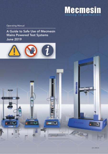 A Guide to Safe Use of Mecmesin Mains Powered Test Systems