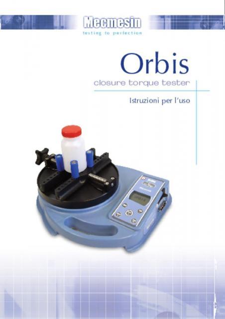 Orbis closure torque tester Istruzioni per l'uso