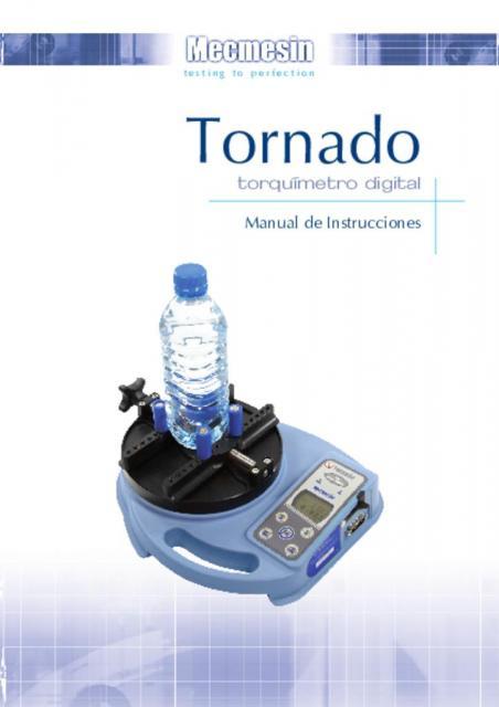 Tornado torquímetro digital Manual de Instrucciones