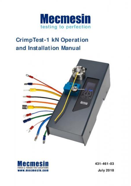 431-461-03-L00 CrimpTest-1 kN User Manual