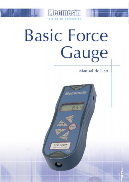 Basic Force Gauge (BFG) Manual de Uso