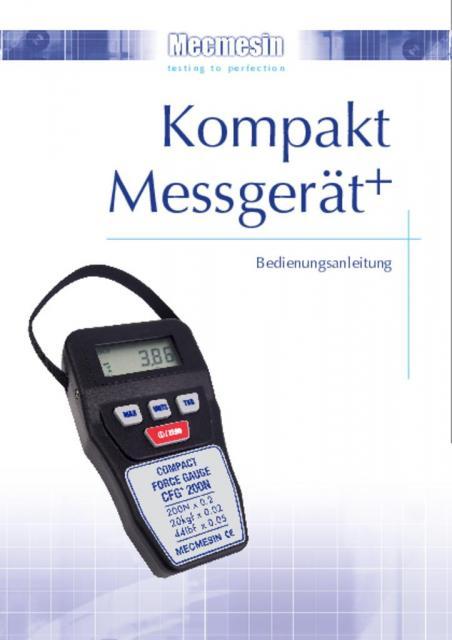 Kompakt Messgerät+ (CFG+) Bedienungsanleitung
