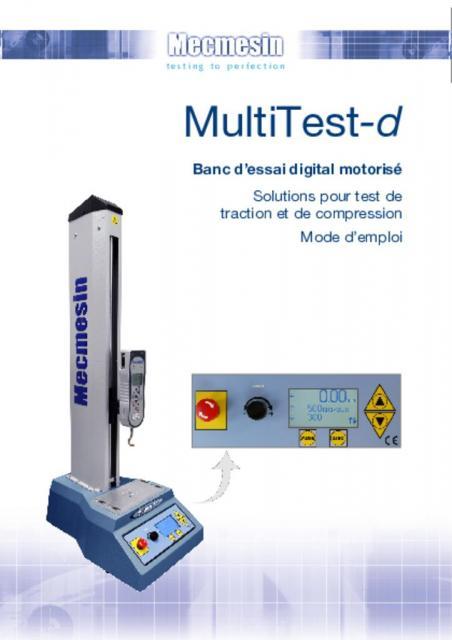 MultiTest-d Banc d'essai digital motorisé Mode d'emploi