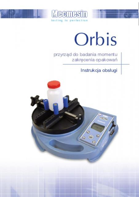 Orbis przyrząd do badania momentu zakręcenia opakowań Instrukcja obsługi