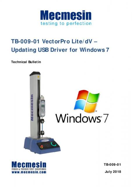 USB driver update for Windows OS