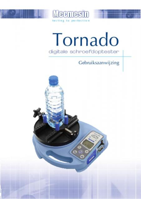 Tornado digitale schroefdoptester Gebruiksaanwijzing