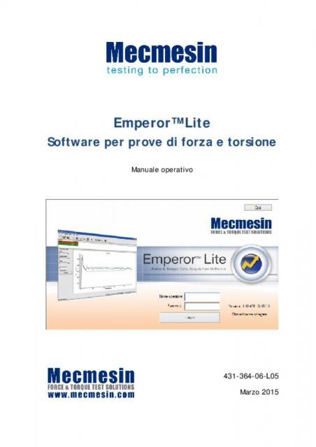 Emperor™ Lite Software per prove di forza e torsione
