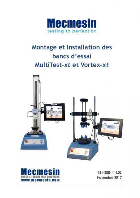 Montage et Installation des bancs d'essai MultiTest–xt et Vortex-xt