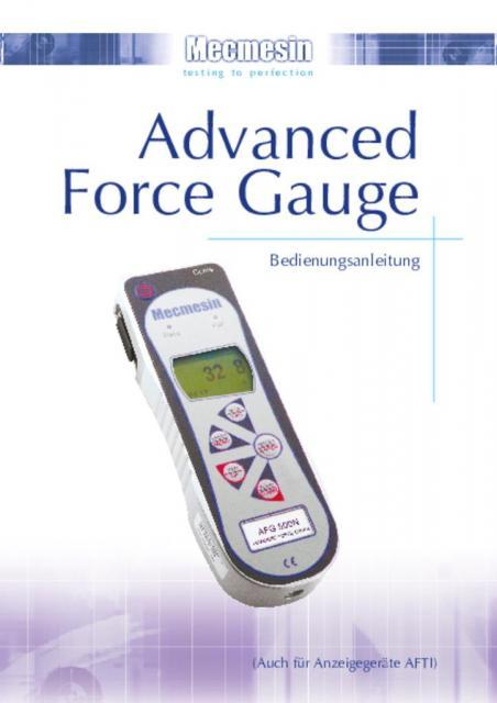 Advanced Force Gauge Bedienungsanleitung