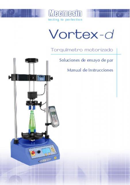 Vortex-d Torquímetro motorizado Manual de Instrucciones