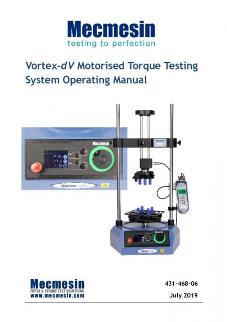 Vortex-dV operating manual