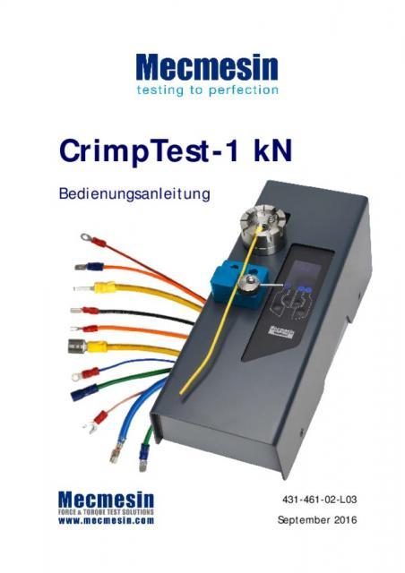 CrimpTest-1 kN Bedienungsanleitung