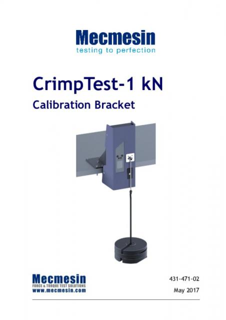 CrimpTest-1 kN Calibration Bracket Manual