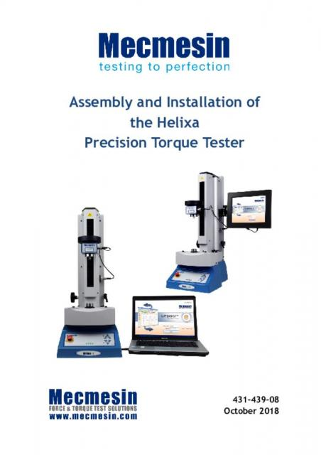Helixa assembly and installation manual