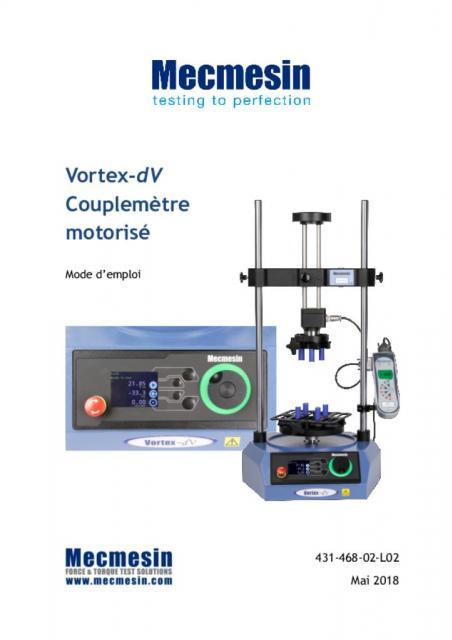 Vortex-dV Couplemètre motorisé Mode d'emploi