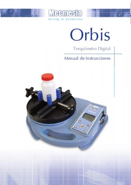 Orbis Torquímetro Digital Manual de Instrucciones