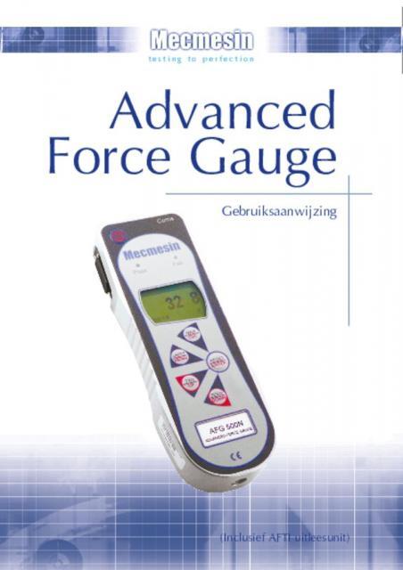 Advanced Force Gauge (AFG) Gebruiksaanwijzing