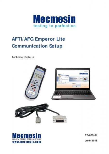 AFG/AFTI To Emperor Lite software