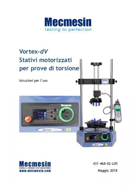 Vortex-dV Stativi motorizzatiper prove di torsione Istruzioni per l'uso