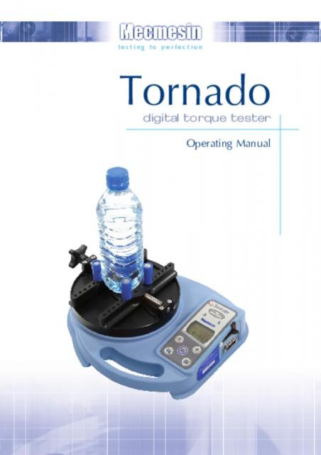 Tornado Digital Torque Tester Operating Manual