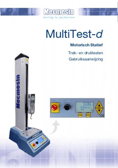 MultiTest-d Motorisch Statief Trek- en druktesten Gebruiksaanwijzing