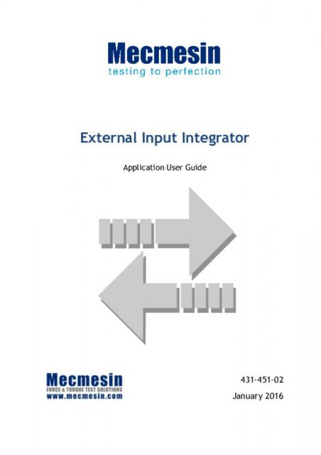 External Input Integrator, User Guide (Emperor)