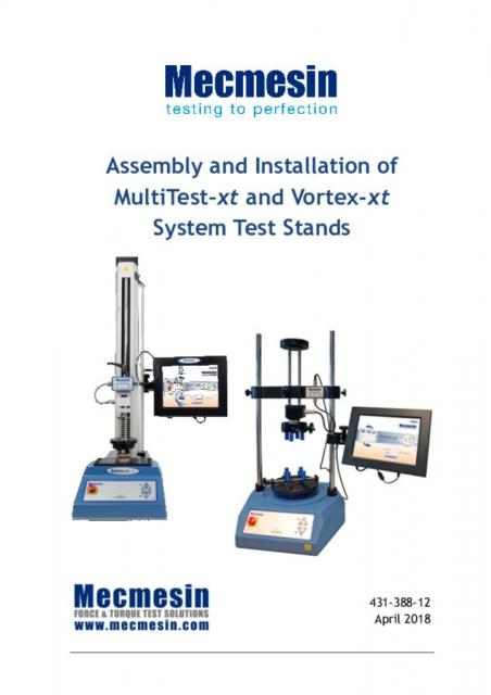 MultiTest-xt and Vortex-xt assembly and installation